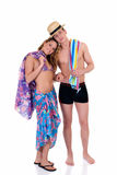 Vacation love, young adults Stock Photography