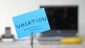 Vacation memo Stock Photo