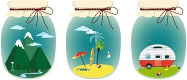 Vacation memories stored vector illustration