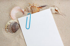 Vacation message Stock Photo