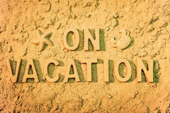 On Vacation Royalty Free Stock Photos
