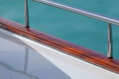 Vacation on Motor Yacht, details of Interior Luxury Yacht from Bahamas to Caribbean Stock Images