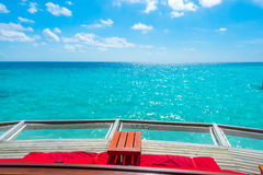 Vacation net seat in tropical Maldives island and beauty of the Stock Photography