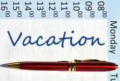 Vacation note Royalty Free Stock Photos