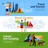 Vacation Options Banners Set Royalty Free Stock Photo