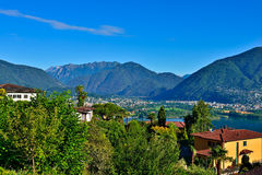 Vacation overlooking Locarno Stock Photos