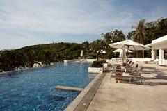 Vacation, palm trees, swiming pool ,holiday Royalty Free Stock Image