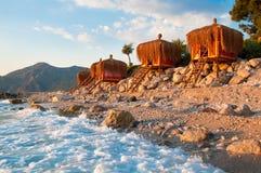 Vacation paradise, bungalow on the coast Stock Image