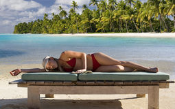 Vacation Paradise - The Cook Islands Stock Photos