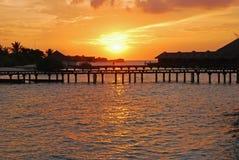 Vacation Paradise during Sunset Stock Image