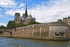 On vacation in paris (notre dame) Stock Photography