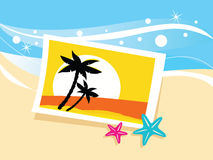 Vacation photo with tropical palms Stock Image