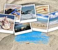 Vacation photographs in sand Royalty Free Stock Photo