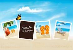 Vacation photos on a beach. Vector. Royalty Free Stock Photo
