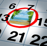 Vacation Plan Royalty Free Stock Photo