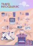 Vacation planner flat summer infographics. Royalty Free Stock Photography