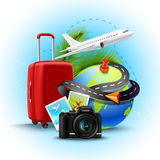 Vacation Realistic Background Royalty Free Stock Photography