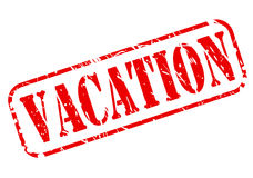 Vacation red stamp text Stock Photos