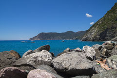 Vacation and relaxation in Cinque Terre Stock Photos