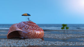 Vacation relaxing conceptual background Stock Image