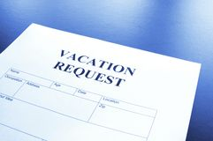 Vacation request Stock Images