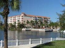 Vacation Resort Buildings Beach & Lake 1 Royalty Free Stock Image