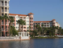 Vacation Resort Buildings & Lake 1 Stock Photography