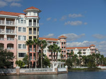 Vacation Resort Buildings & Lake 8 Stock Photography