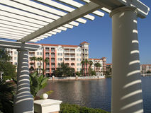 Vacation Resort Buildings Trellis & Lake 2 Stock Images