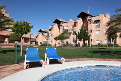 Vacation resort with pool Stock Images