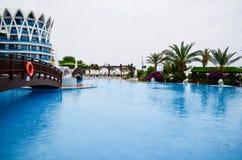 Vacation resort pool area Royalty Free Stock Photos