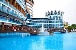 Vacation resort pool area Royalty Free Stock Photo