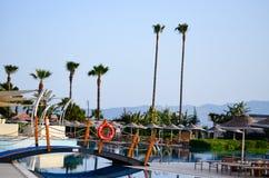 Vacation resort pool area Stock Photo