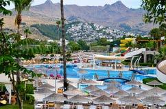 Vacation resort pool area Stock Image