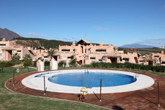 Vacation resort with pool, Spain Stock Photography
