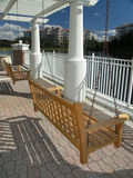 Vacation Resort swing & Trellis 1 Royalty Free Stock Photos