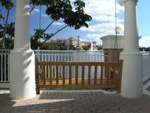 Vacation Resort swing & Trellis 2 Stock Photo