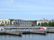 Vacation resorts at Lake Muskoka. Vacation resorts and docks at Lake Muskoka Royalty Free Stock Photos