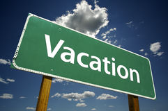 Vacation - Road Sign. Stock Photography