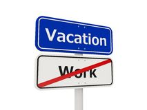 Vacation road sign Royalty Free Stock Images