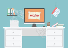Vacation. Room is untidy because officer vacation, long time he return Royalty Free Stock Image