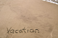 Vacation In the Sand. Background Royalty Free Stock Photography