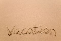 Vacation in sand horizontal Royalty Free Stock Images