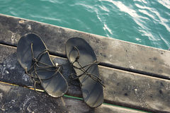 Vacation sandals Royalty Free Stock Images