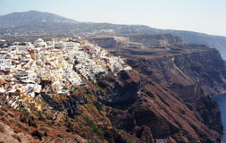 Vacation on Santorini Island. Greece Stock Images