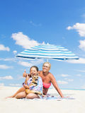 Vacation at sea Royalty Free Stock Image