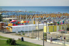 Vacation Sea Summer Beach Resort Bathers Italy Stock Photos