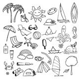 Vacation on sea vector set Stock Image