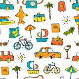 Vacation Seamless Pattern Stock Photography