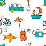 Vacation Seamless Pattern Royalty Free Stock Photography